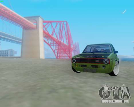 Volkswagen Golf Mk I para GTA San Andreas esquerda vista