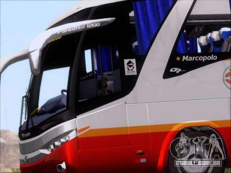 Marcopolo Paradiso 1200 Harapan Jaya para GTA San Andreas vista interior