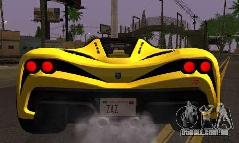 Grotti Turismo R V.1 para GTA San Andreas traseira esquerda vista