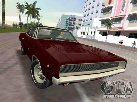 Dodge Charger RT 426 1968 para GTA Vice City vista direita