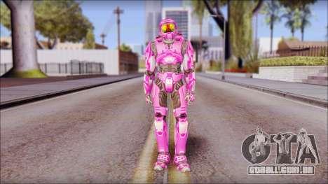 Masterchief Pink from Halo para GTA San Andreas segunda tela