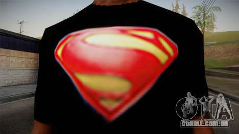 Man of Steel T-Shirt para GTA San Andreas terceira tela