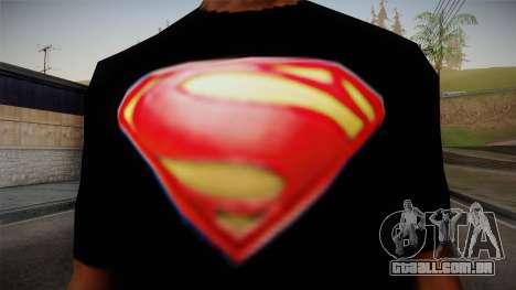 Man of Steel T-Shirt para GTA San Andreas terceira tela