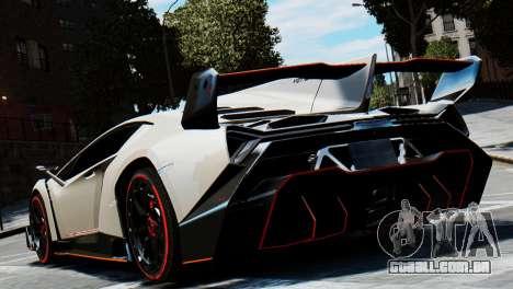 Lamborghini Veneno 2013 para GTA 4 vista de volta