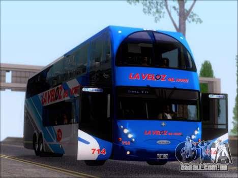 Metalsur Starbus DP 1 6x2 - La Veloz del Norte para vista lateral GTA San Andreas