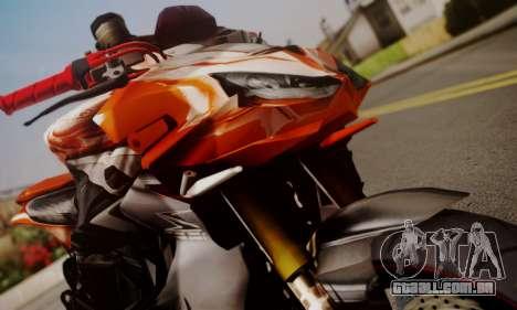 Kawasaki Z1000 2014 para GTA San Andreas traseira esquerda vista