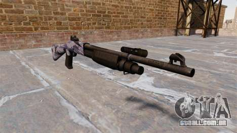 Ружье Benelli M3 Super 90 blue tiger para GTA 4
