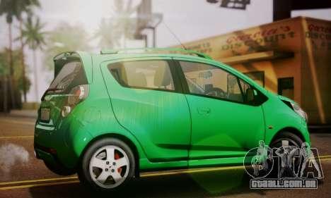 Chevrolet Spark 2011 para GTA San Andreas esquerda vista