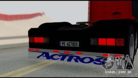 Mercedes-Benz Actros para GTA San Andreas traseira esquerda vista