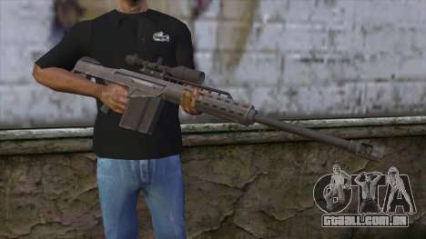 Heavy Sniper from GTA 5 v2 para GTA San Andreas terceira tela