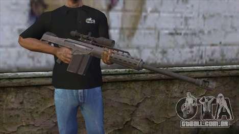 Heavy Sniper from GTA 5 v2 para GTA San Andreas terceira tela