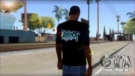 SlipKnoT T-Shirt v3 para GTA San Andreas segunda tela