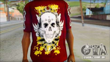Skull T-Shirt para GTA San Andreas terceira tela