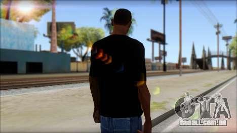 Trivium T-Shirt Mod para GTA San Andreas segunda tela