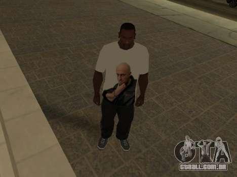 T-Shirt Professor para GTA San Andreas terceira tela