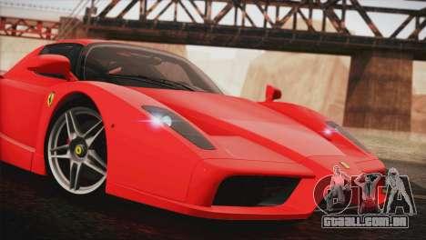 Ferrari Enzo 2002 para GTA San Andreas traseira esquerda vista