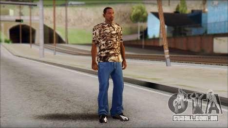 Skulls Shirt para GTA San Andreas terceira tela