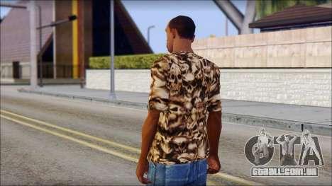 Skulls Shirt para GTA San Andreas segunda tela