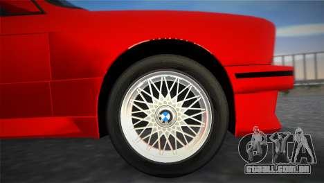 BMW M3 (E30) 1987 para GTA Vice City vista direita
