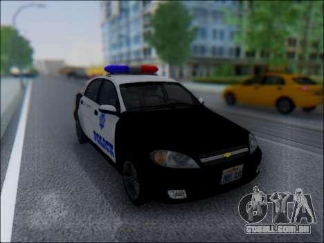Chevrolet Lacetti Police para GTA San Andreas vista traseira