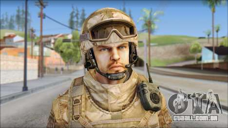 Desert SAS from Soldier Front 2 para GTA San Andreas terceira tela