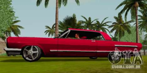 Savanna Coupe para GTA San Andreas esquerda vista
