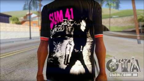 Sum 41 T-Shirt para GTA San Andreas terceira tela