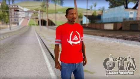 T-Shirt Adidas Red para GTA San Andreas