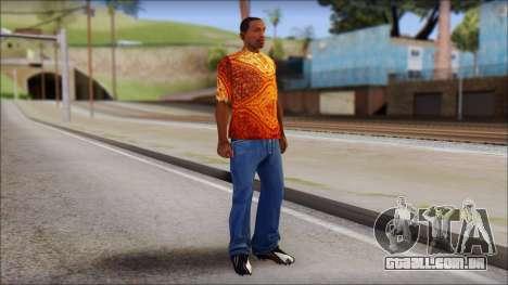Batik Solo T-Shirt para GTA San Andreas terceira tela