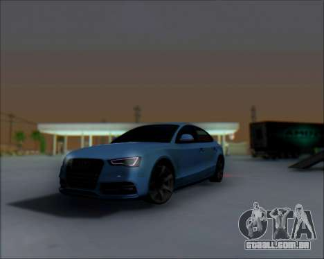 Audi A7 para GTA San Andreas vista traseira