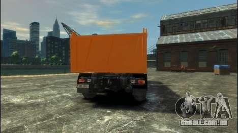 MAZ-6317 para GTA 4 traseira esquerda vista