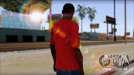 Arsenal T-Shirt para GTA San Andreas segunda tela