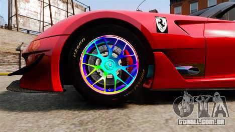 Ferrari F599 XX Evoluzione Simple CarbonFiber para GTA 4 vista de volta