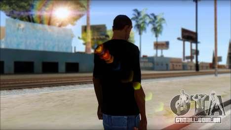 Iron Maiden T-Shirt para GTA San Andreas segunda tela