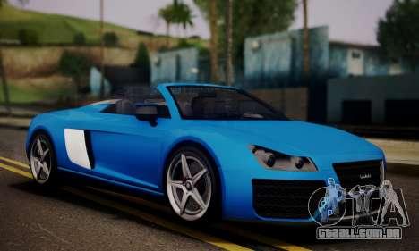Obey 9F Cabrio para GTA San Andreas traseira esquerda vista