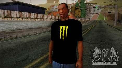 Monster Energy Shirt Black para GTA San Andreas