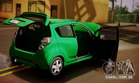 Chevrolet Spark 2011 para GTA San Andreas vista traseira