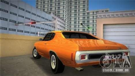 Chevrolet Chevelle SS para GTA Vice City deixou vista
