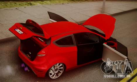 Ford Fiesta Turkey Drift Edition para GTA San Andreas vista interior