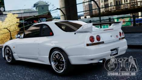 Nissan Skyline R33 1995 para GTA 4 esquerda vista