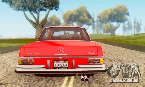 Mercedes-Benz 300SEL Stock 1972 para GTA San Andreas vista direita