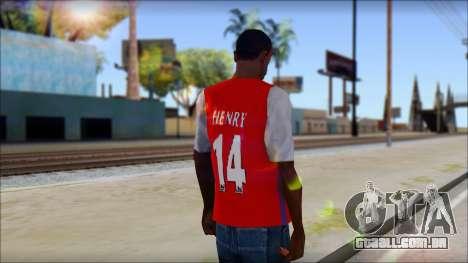 Arsenal Shirt para GTA San Andreas segunda tela
