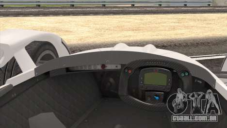 Caparo T1 2012 para GTA San Andreas vista direita