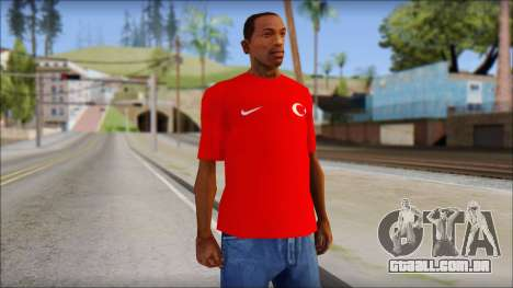 Turkish Football Uniform v4 para GTA San Andreas
