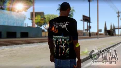 Bullet for my Valentine Fan T-Shirt para GTA San Andreas segunda tela