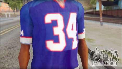 NY Buffalo Bills Blue para GTA San Andreas terceira tela