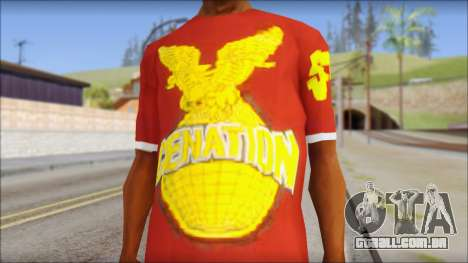 Cenation EHacker Shirt para GTA San Andreas terceira tela