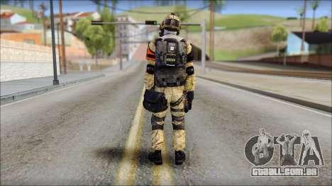 Opfor PVP from Soldier Front 2 para GTA San Andreas segunda tela