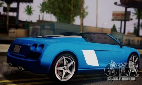 Obey 9F Cabrio para GTA San Andreas esquerda vista