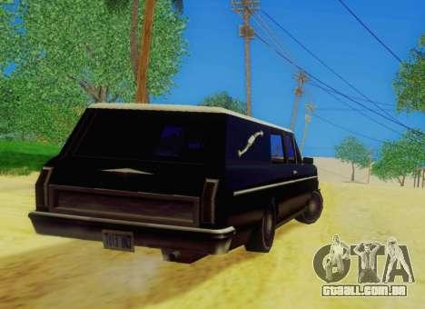 Perennial Сatafalque para GTA San Andreas traseira esquerda vista